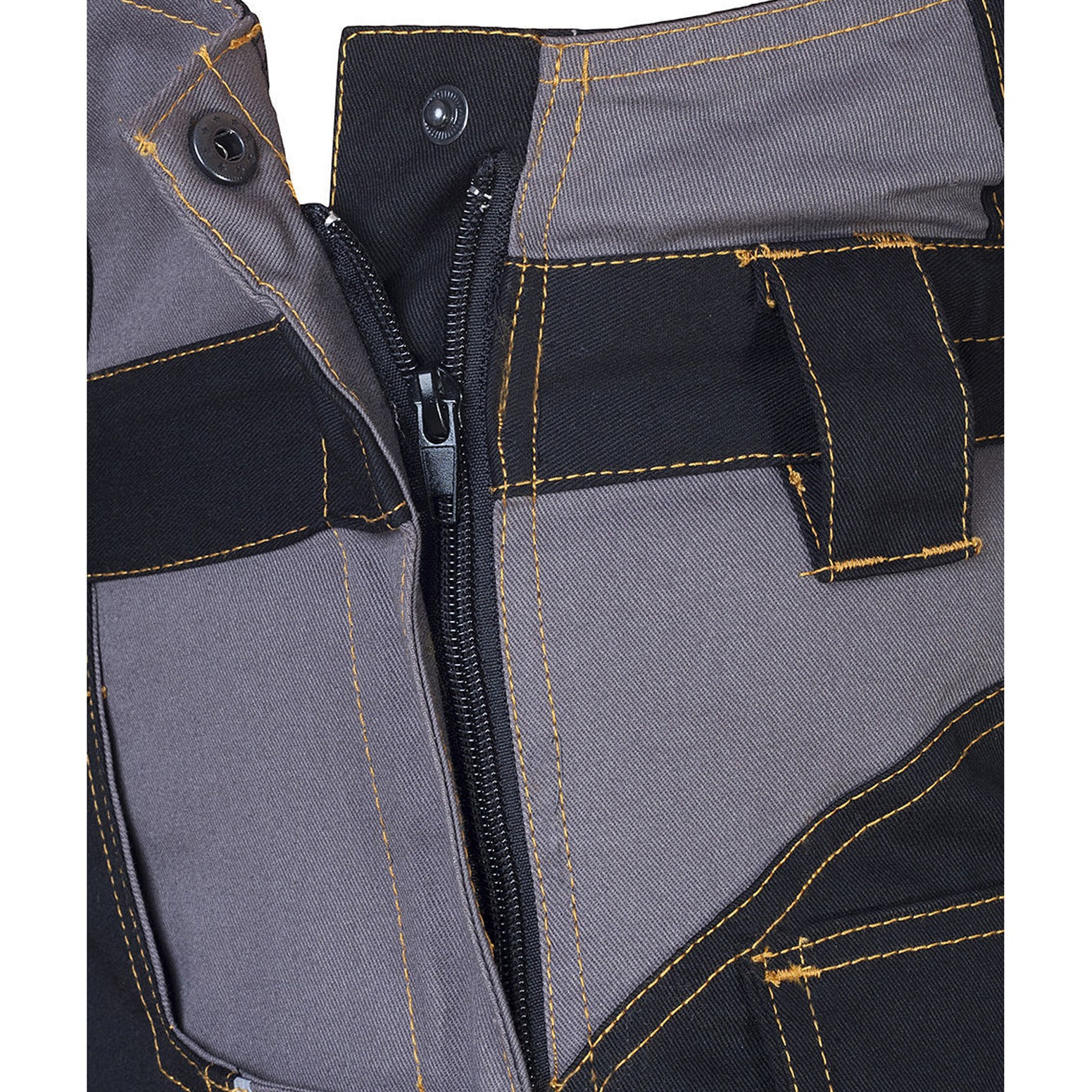 VIS-L 46, Grau Arbeitslatzhose Sicherheitshose Arbeitshose Kombihose Schwarz Ardo