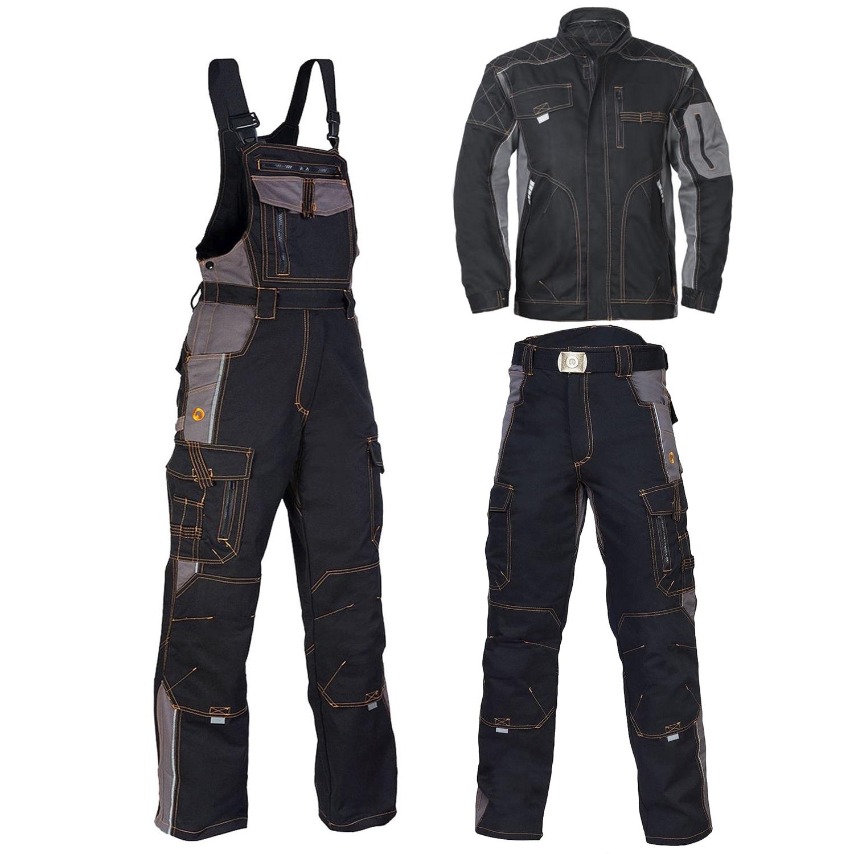 Berufskleidung Arbeitshose Arbeitsjacke Latzhose Arbeitsbekleidung VIS-SCHW